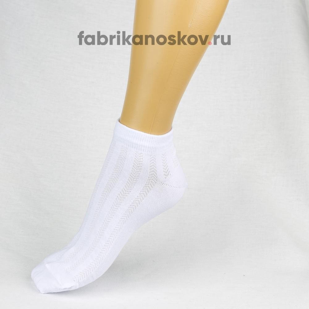 Укороченные мужские носки с узором на лицевой части