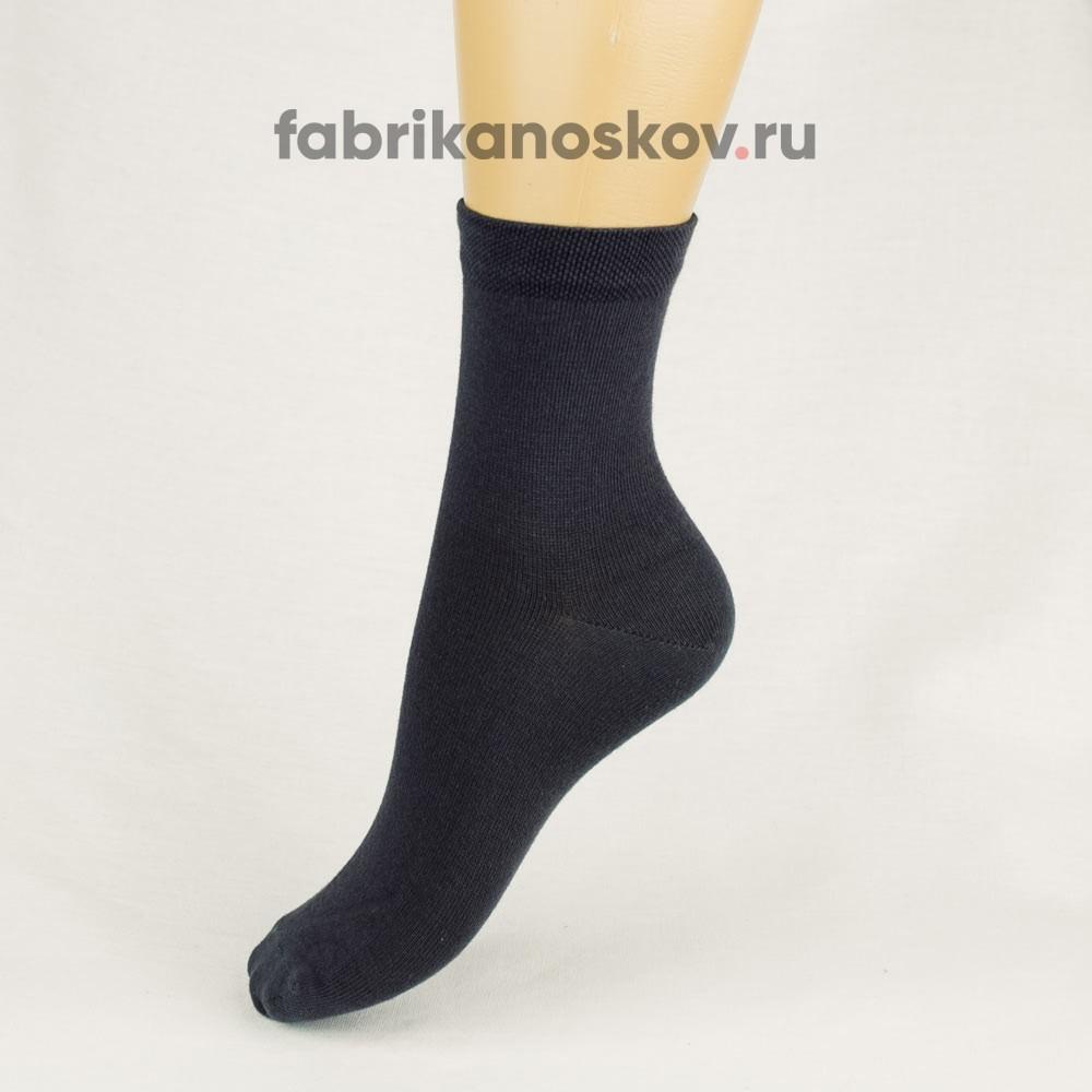 Однотонные детские носки с гладкой платировкой