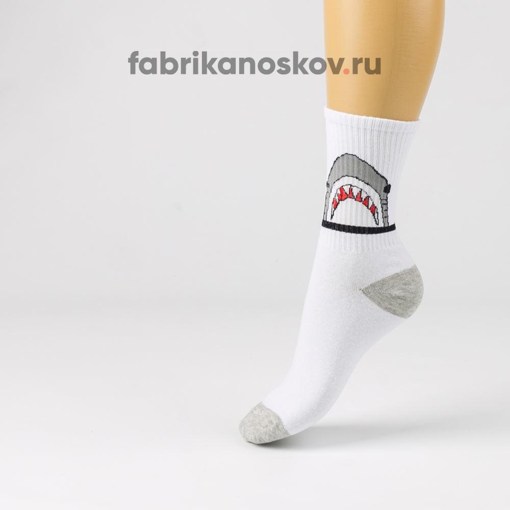 Женские носки с изображением акулы