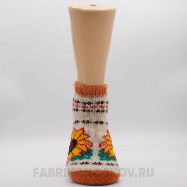 Женские короткие шерстяные носки с подсохнухом
