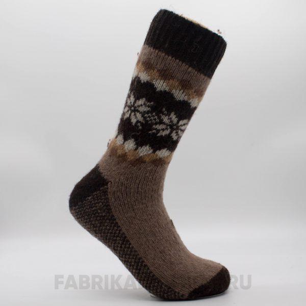 Женские шерстяные носки с цветами по кругу