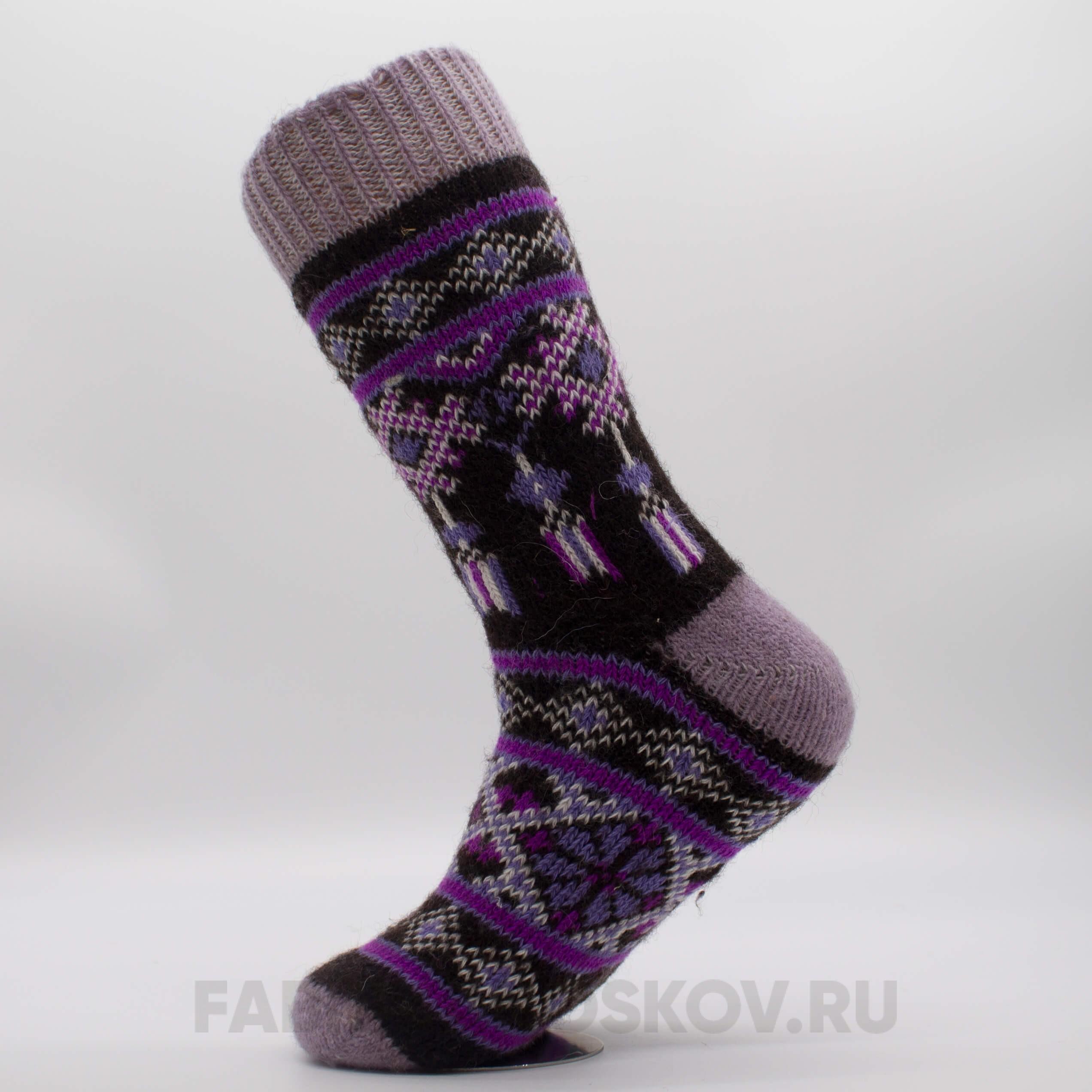 Женские шерстяные носки с ожерельем