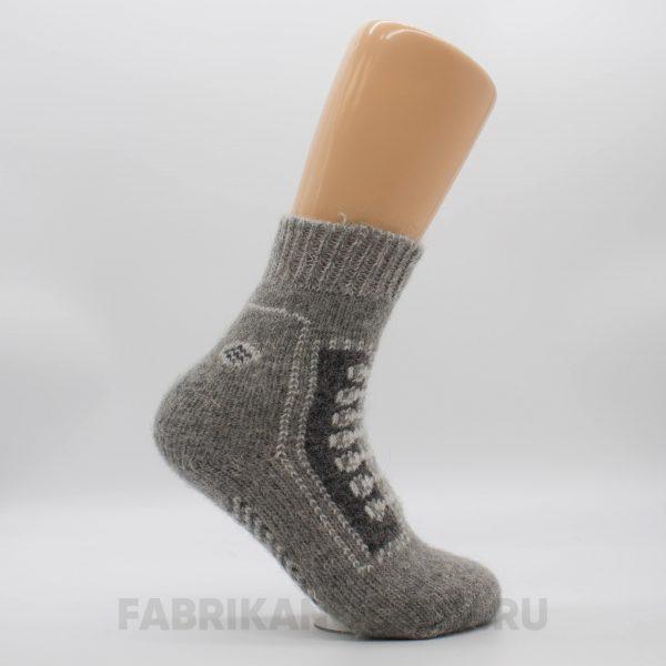 Мужские короткие шерстяные носки со шнурками