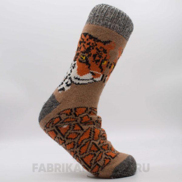 Мужские шерстяные носки с тигром