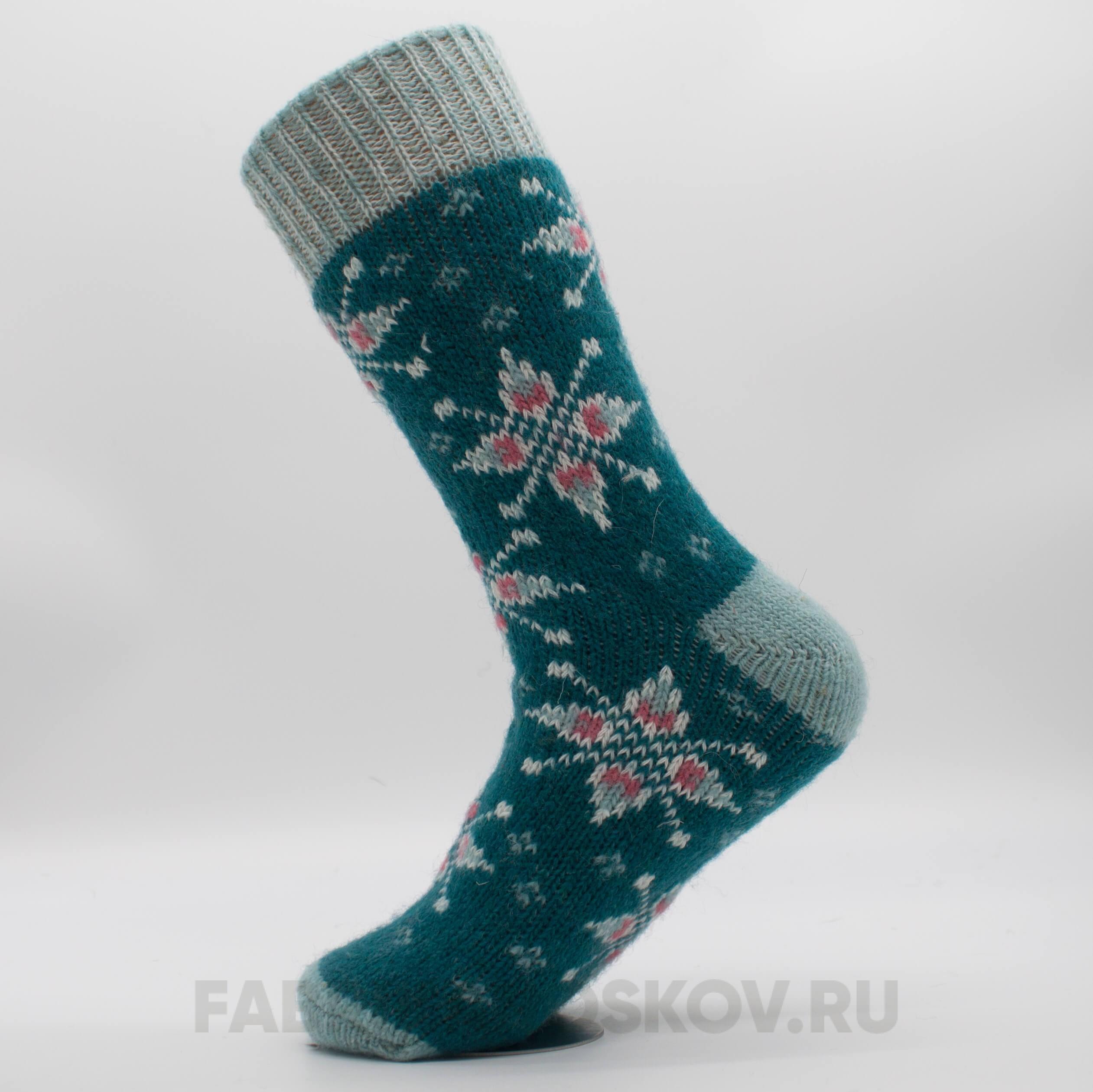Женские шерстяные носки со звездами