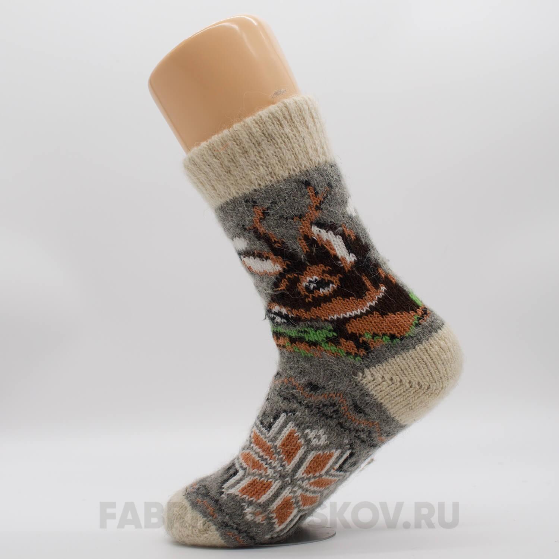 Мужские шерстяные носки с олененком