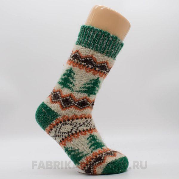 Женские шерстяные носки с елками
