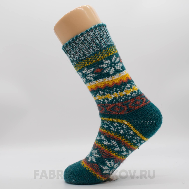 Женские шерстяные носки со снежинками и орнаментом