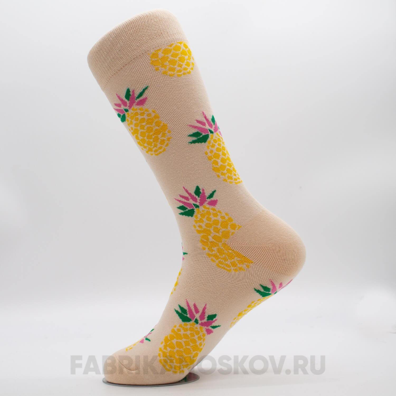 Женские носки с изображением ананаса