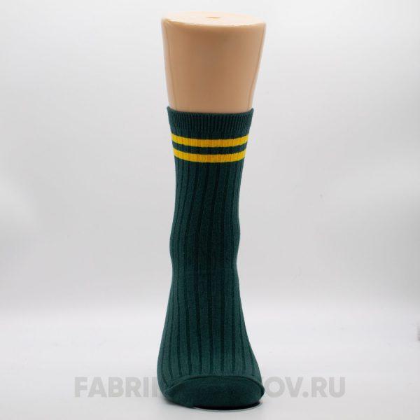 Мужские носки с полосками и орнаментом на лицевой части
