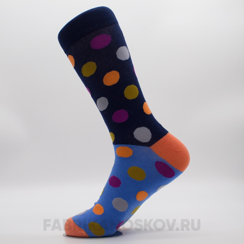 Длинные мужские носки с большими точками