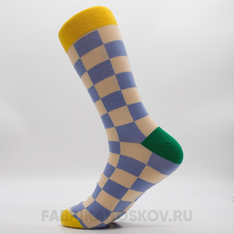 Мужские носки с квадратами разных цветов