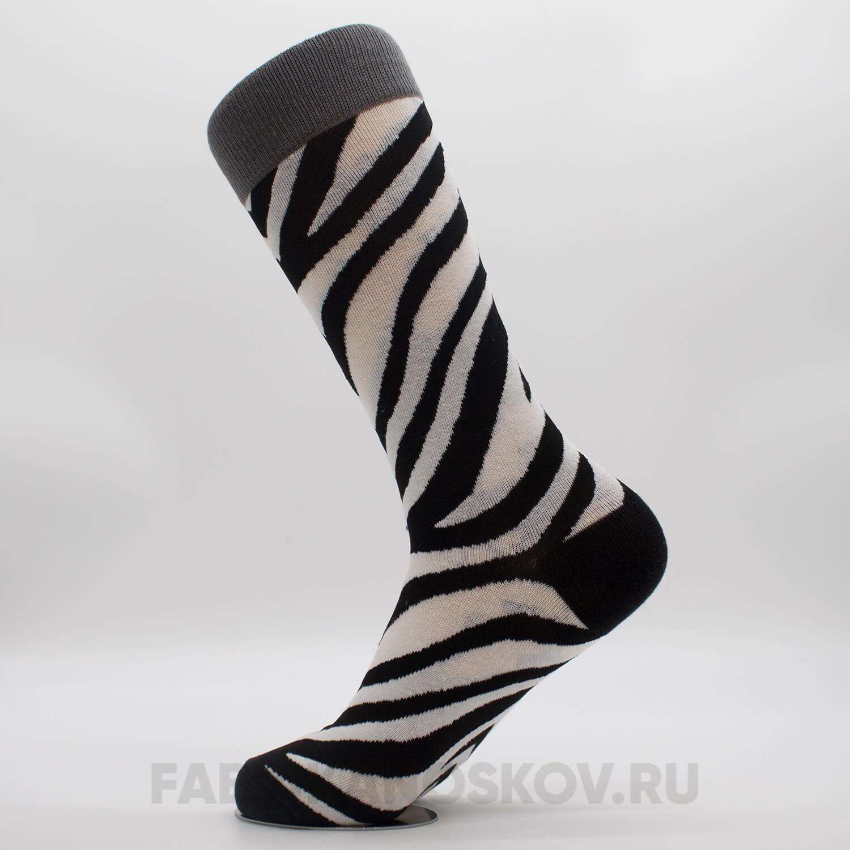 Женские носки с патерном зебра