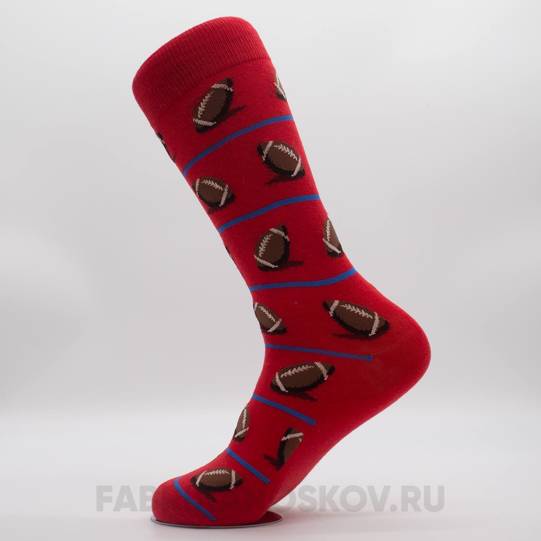 Женские носки с изображением мячей для регби