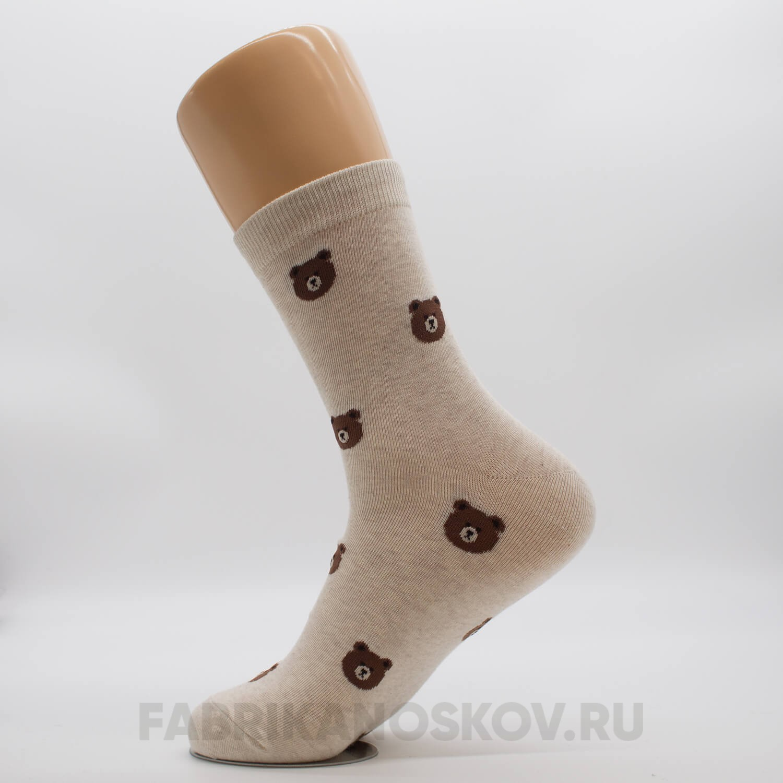 Мужские носки с медведями