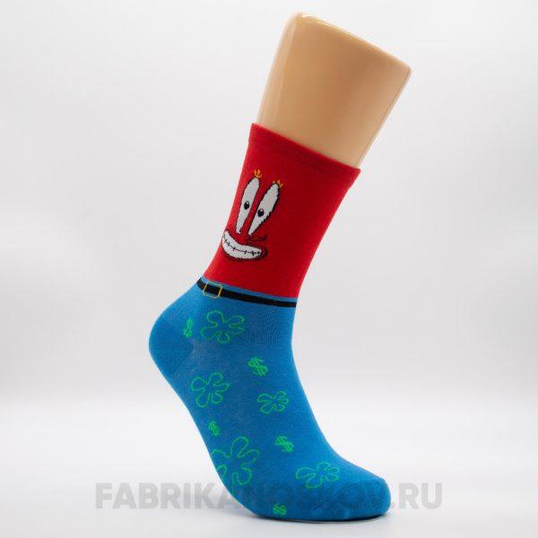 Мужские спортивные носки с крабом