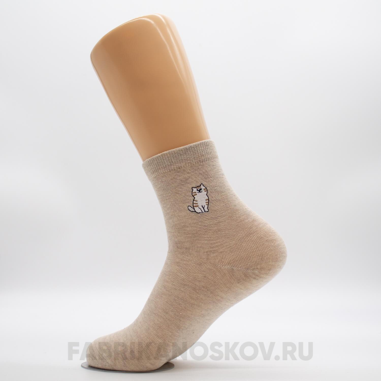 Женские носки с полосатым котиком