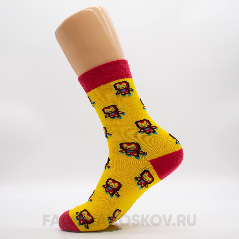 Мужские носки железный человек