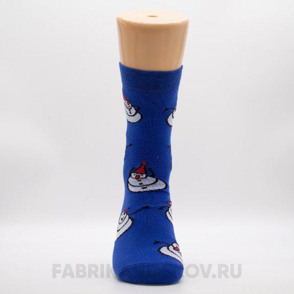 Мужские носки со снеговиками