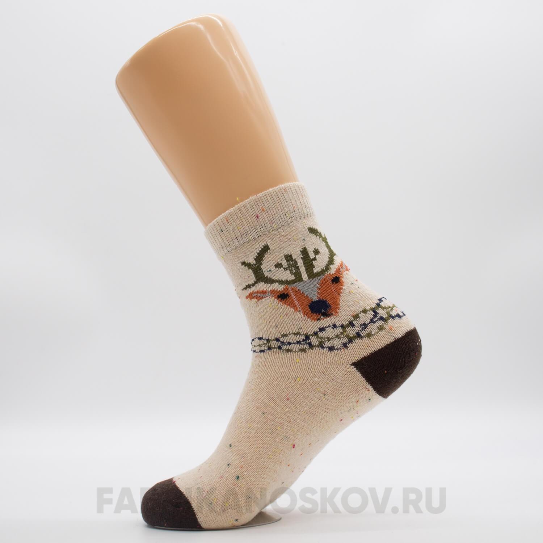 Мужские плотные носки с оленем