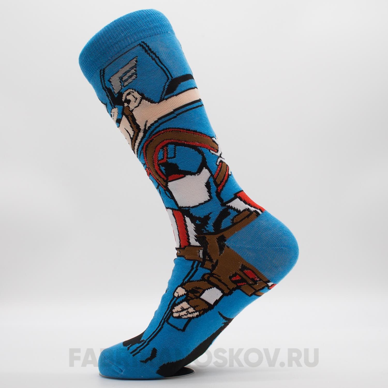 Мужские носки «Капитан Америка»