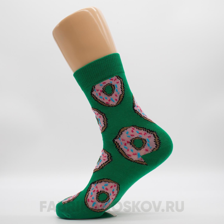 Мужские носки с пончиками