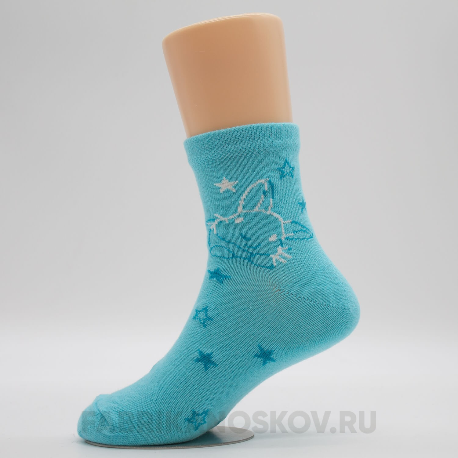 Детские носки с лунным зайкой