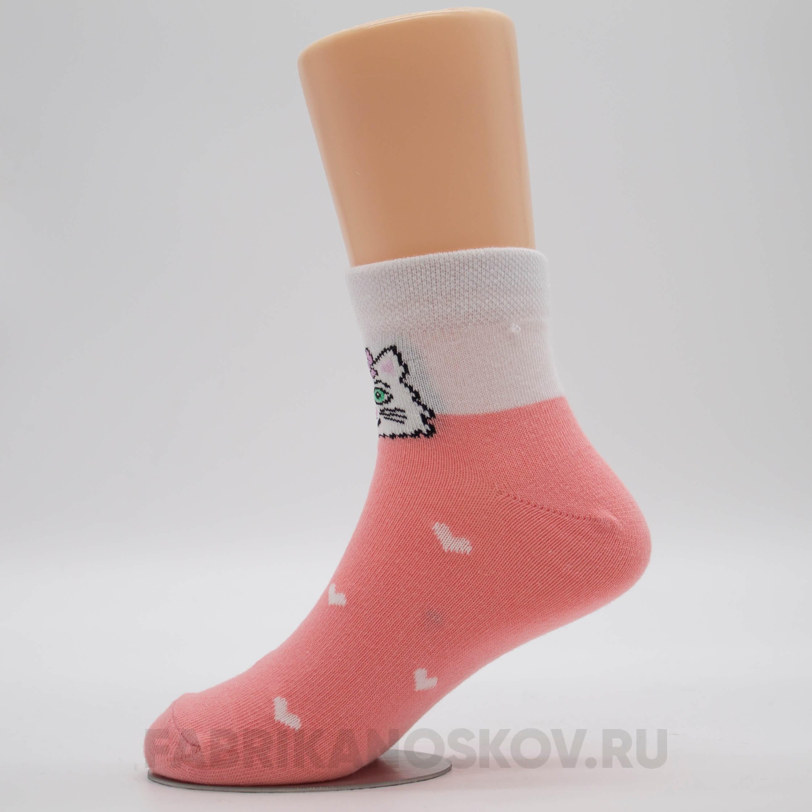Детские носки с изображением кошечки