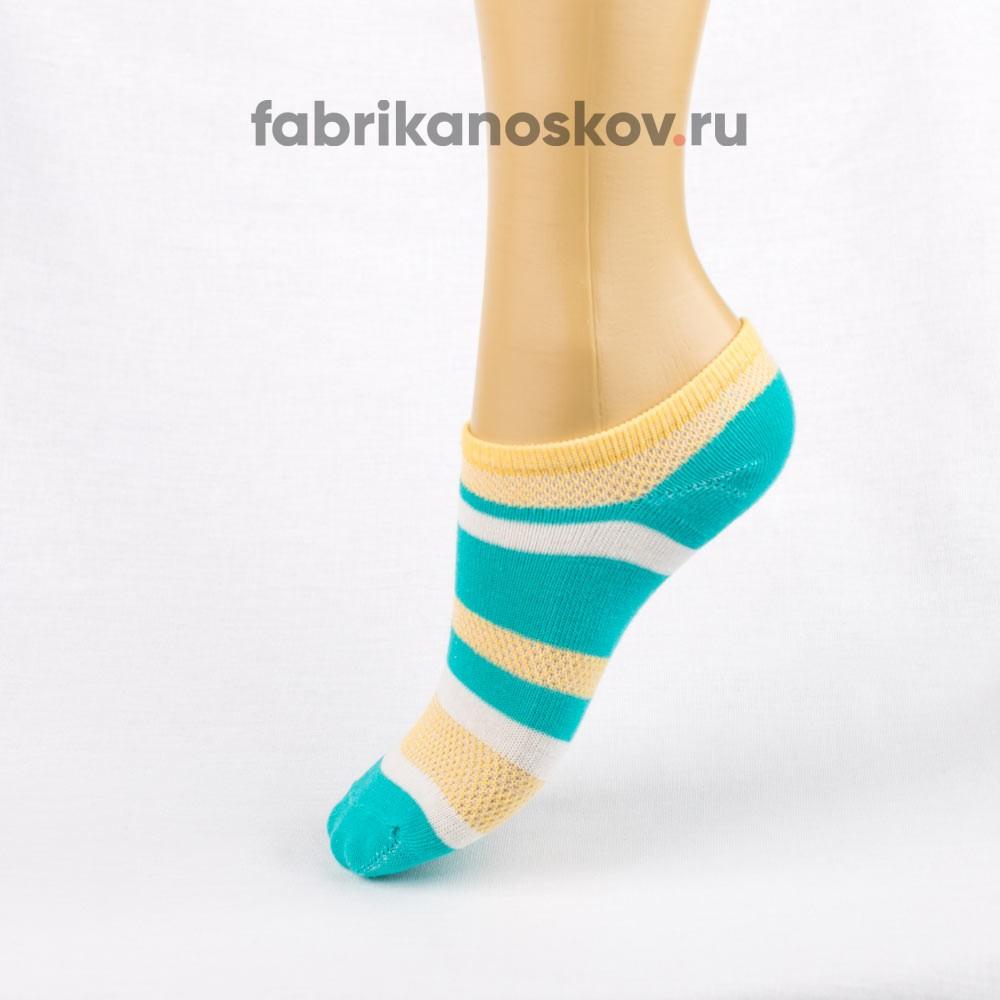 Короткие носки для малышей с разноцветными полосками