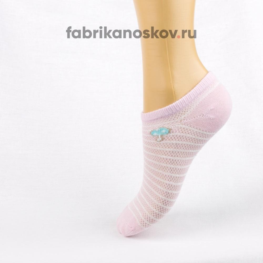 Короткие носки для малышей с изображением грибочка