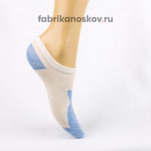 Короткие детские носки с изображением зайца в очках