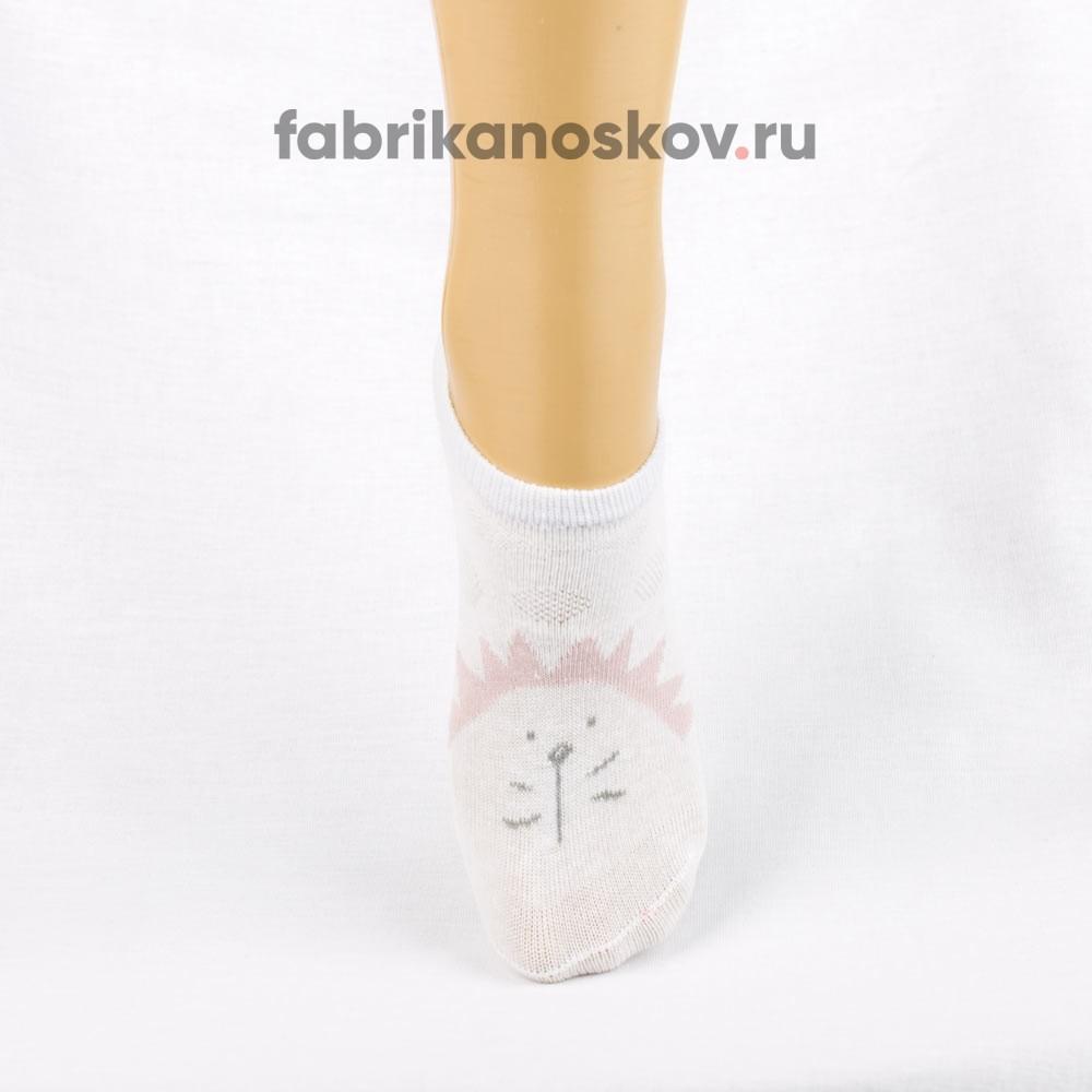 Короткие носки для малышей с изображением ежика