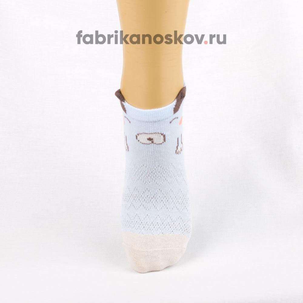 Носки для малышей с изображением собачки