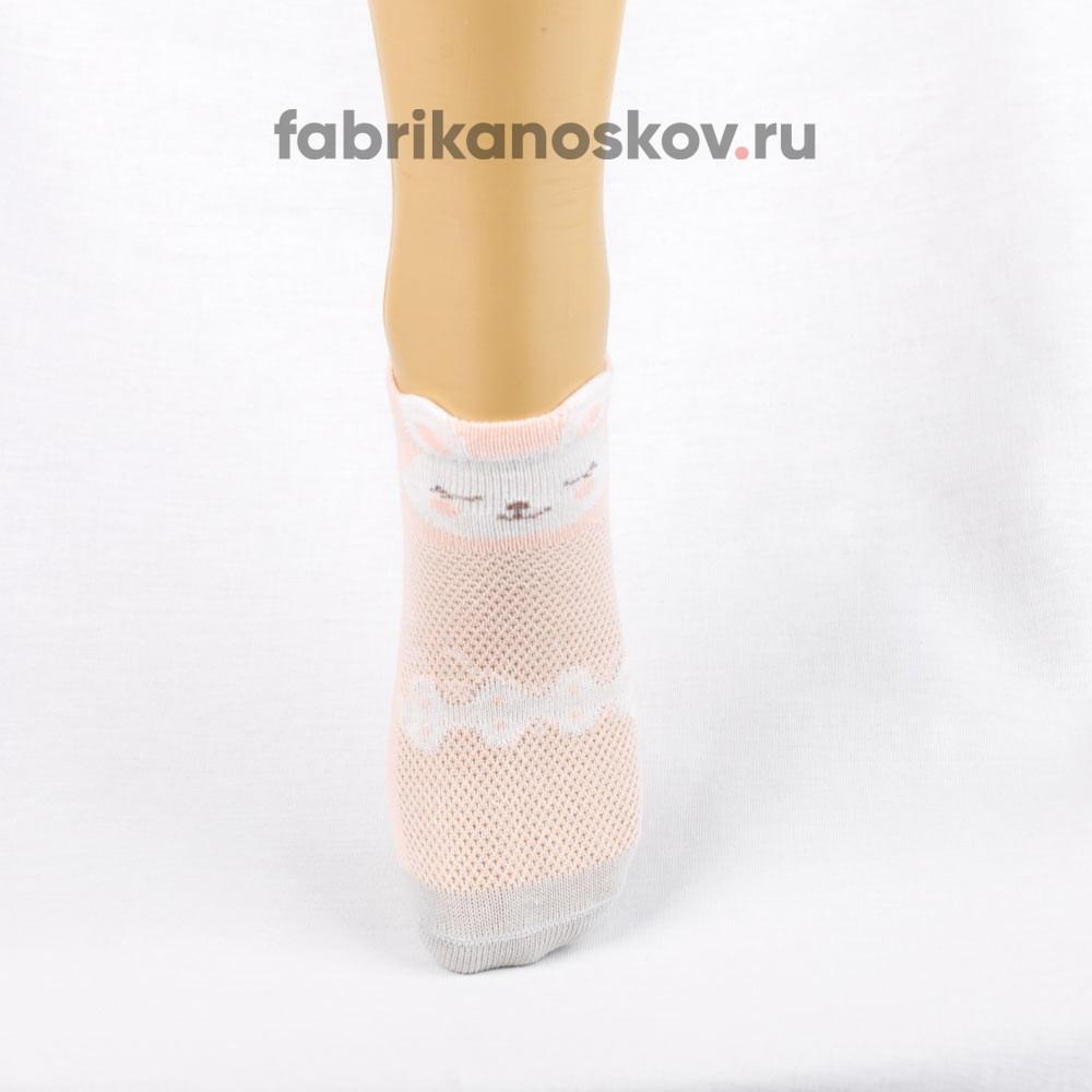 Короткие носки для малышей с зайчиком