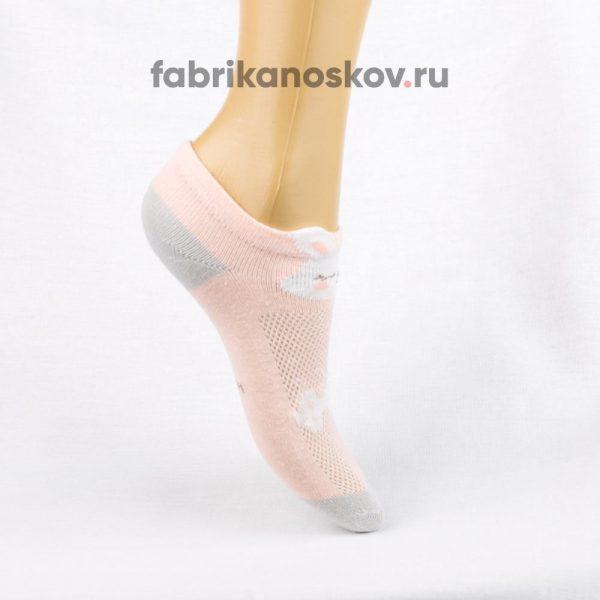 Короткие детские носки с зайчиком