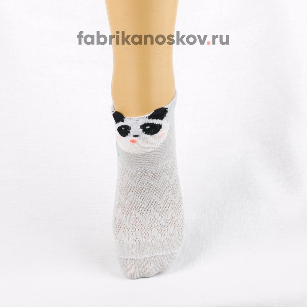 Короткие носки для малышей с изображением панды