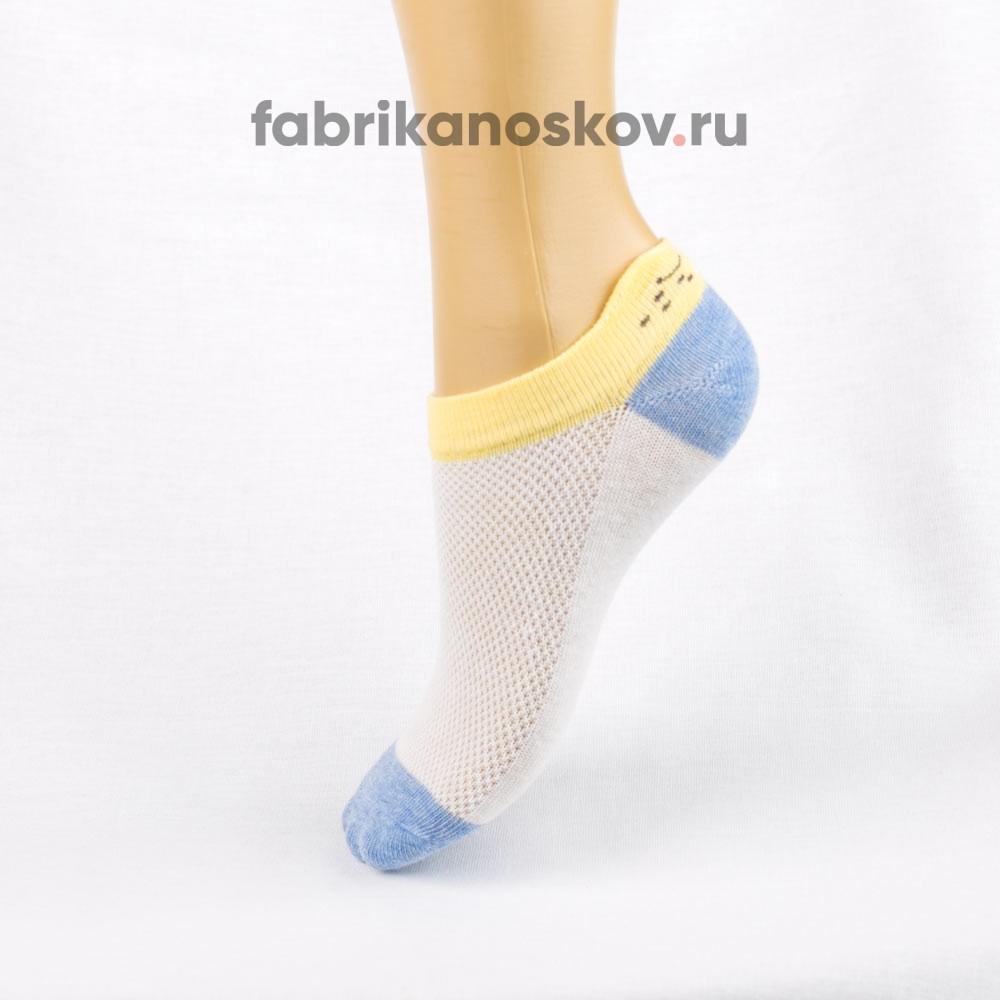 Короткие носки для малышей с изображением мордочки на задней части