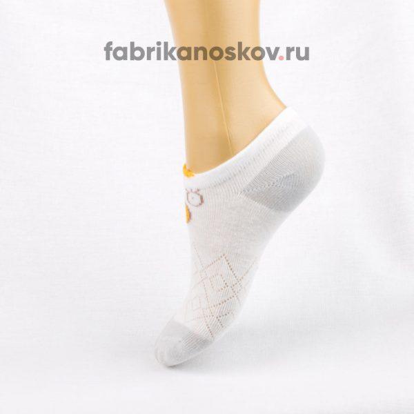 Короткие детские носки с изображением уточки