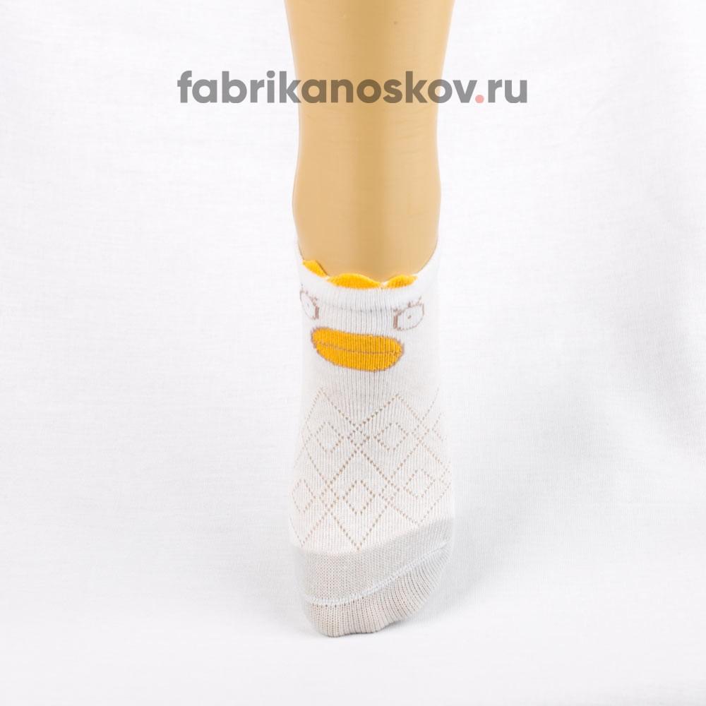 Короткие носки для малышей с изображением уточки