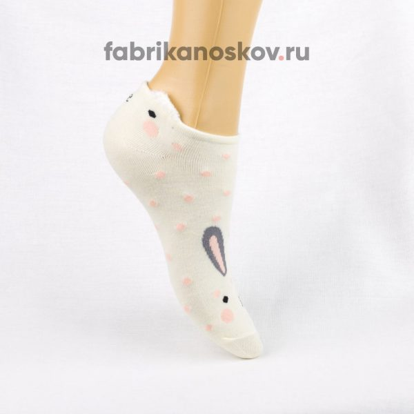 Короткие детские носки с изображением зайчика