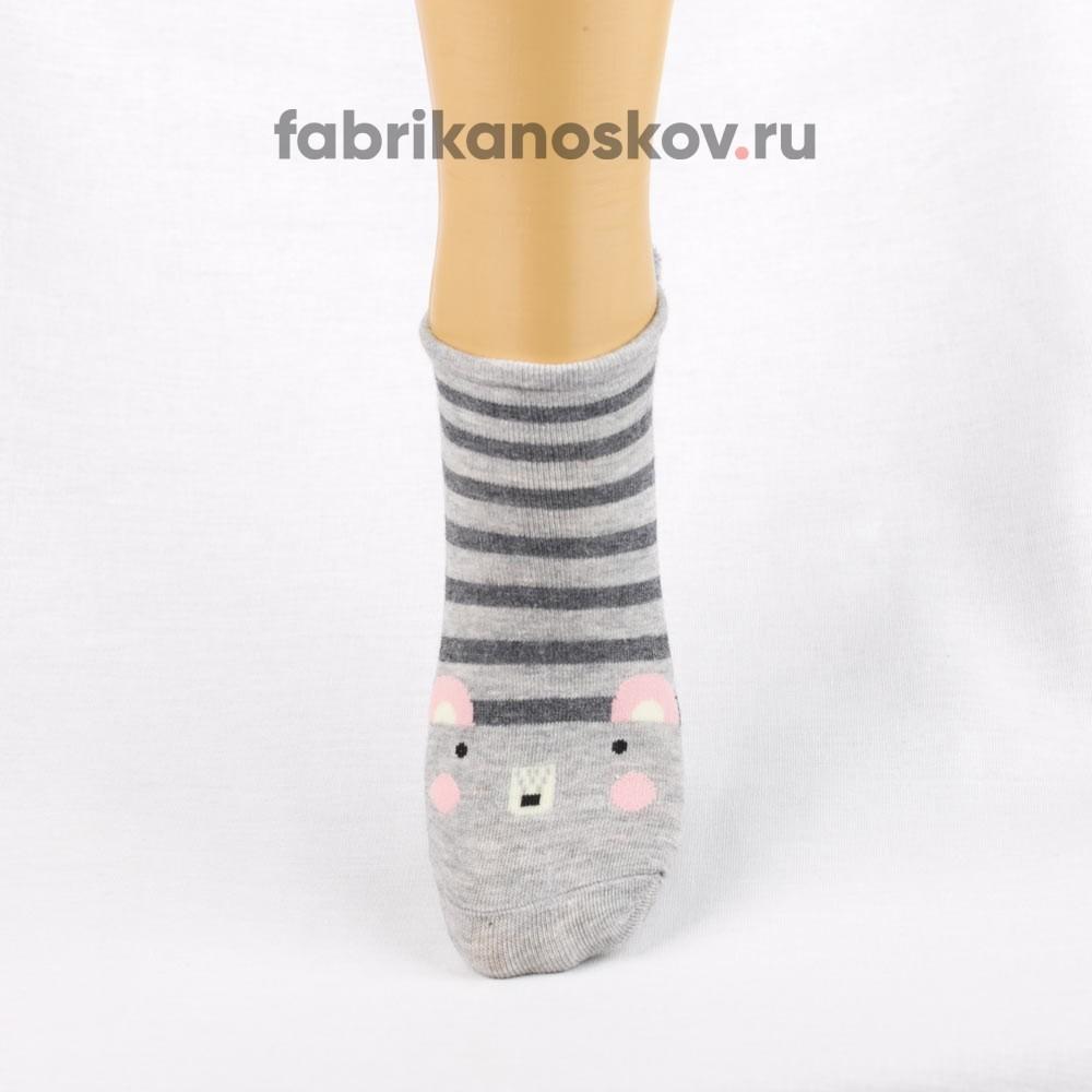 Короткие носки для малышей с изображением мышки