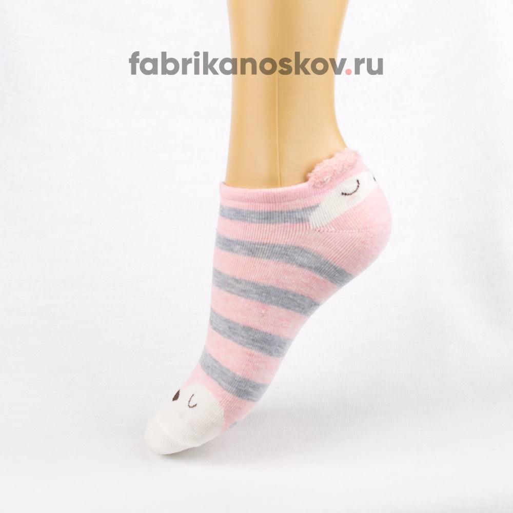 Короткие детские носки с мордочкой