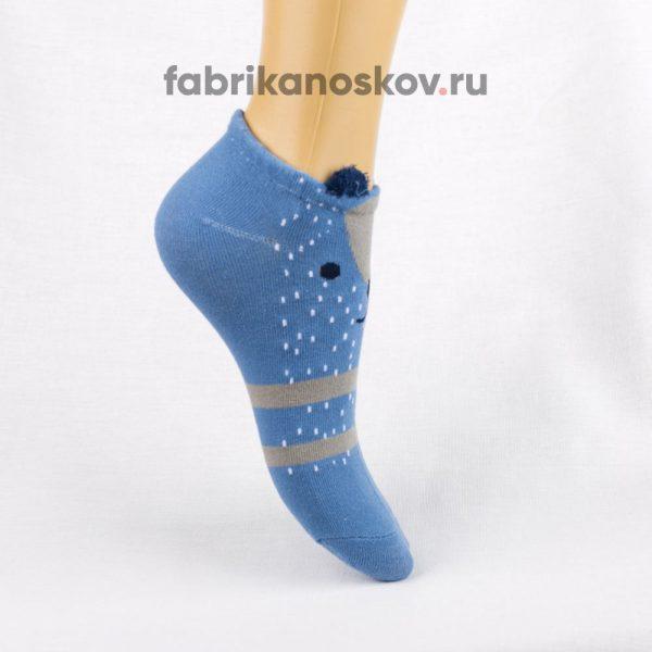 Короткие детские носки с мордочкой медведя