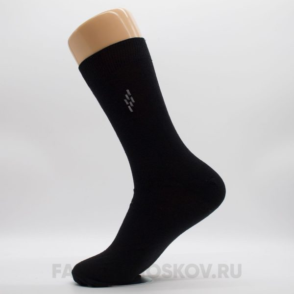 Мужские гладкие носки с ромбом из полосок