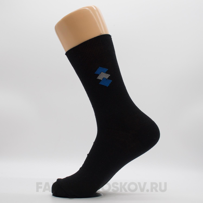 Мужские гладкие носки с ромбами