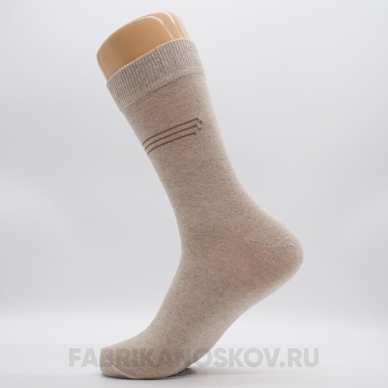 Мужские гладкие носки с двойным бортом
