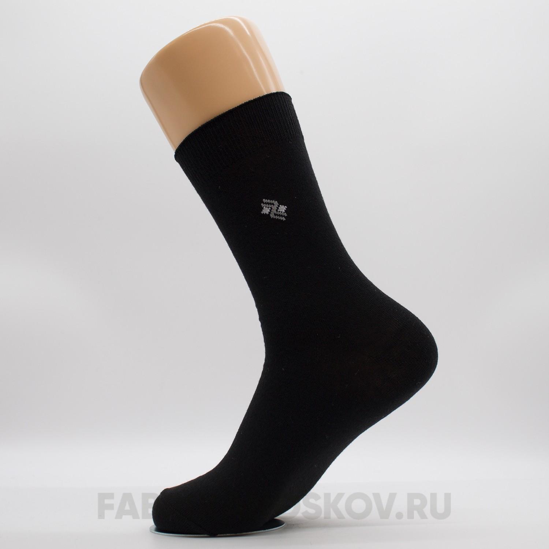 Мужские гладкие носки с зигзагом