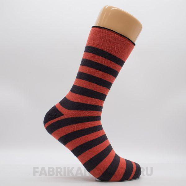 Женские махровые носки в полоску