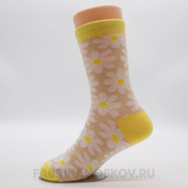 Детские носки с ромашкой