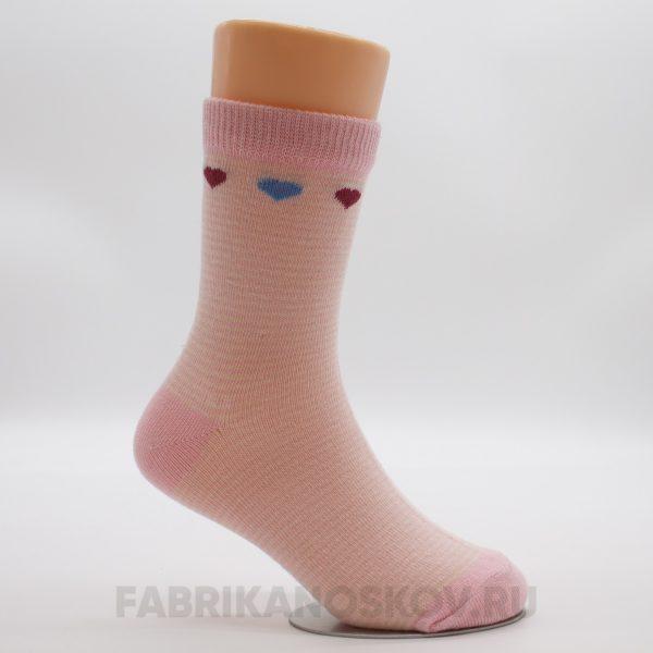 Детские носки с сердечками